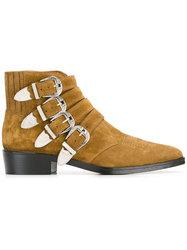 欧美走秀男士搭扣靴子牛皮牛仔马丁靴Chelsea boots 切尔西靴子男