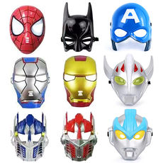 Halloween Mask Boys and Girls Cartoon Animation Column Optimus Spider-Man Green Giant Glow Captain American Bat