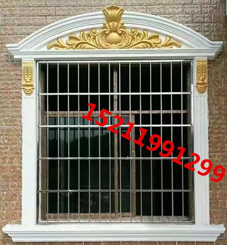 欧式罗马柱模具水泥现浇窗套建筑用abs塑钢加厚模板窗