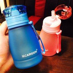 韩版夏季水杯塑料吸管杯柠檬杯创意儿童水壶便携女士可爱学生水瓶