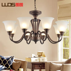 Lang Lang lighting American chandelier wrought iron lamps modern minimalist atmosphere bedroom dining room lamp country living room chandelier