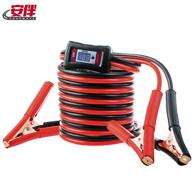 安伴汽车电瓶线搭火线纯铜汽车搭电线电瓶搭火线连接过江龙搭火线