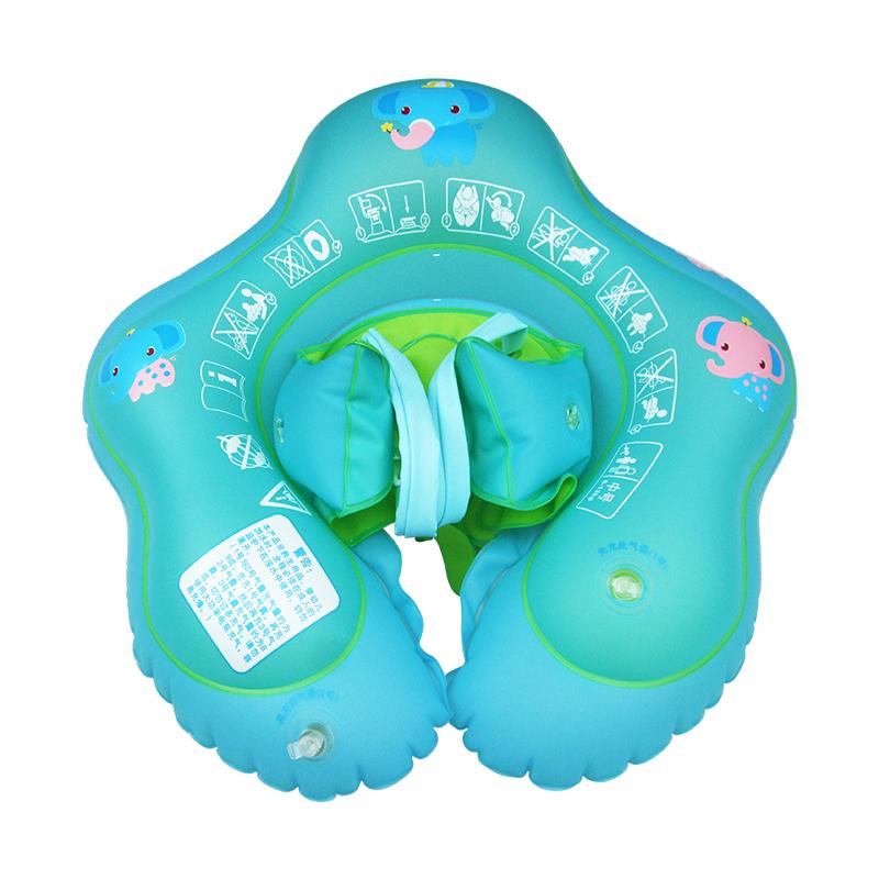 婴儿游泳圈防翻防呛趴圈新生儿脖圈宝宝腋下0-1-3-6岁儿童游泳圈