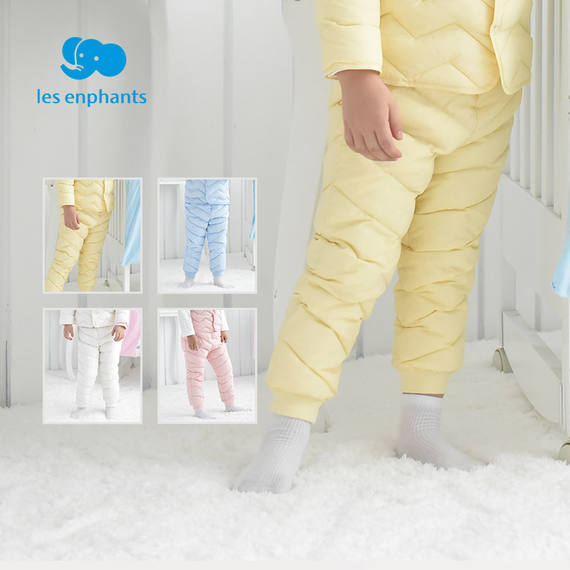 Lai Ying Fang infant children's clothing boys and girls baby solid color light down pants children's warm down cotton