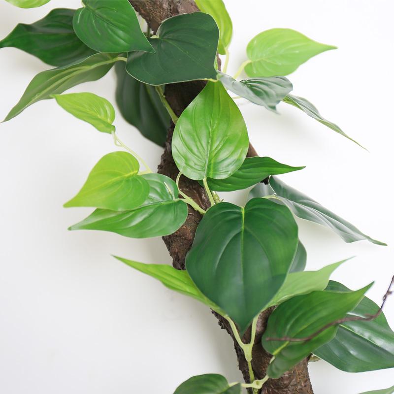 绿叶装饰藤条假树叶装饰管道藤条植物藤蔓叶子吊顶塑料绿植藤条