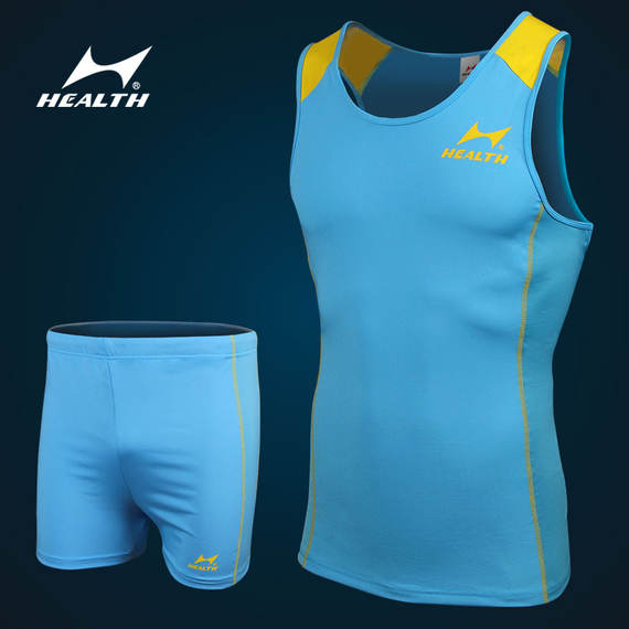 Haiers track and field clothing suit 288 training suit buy sportswear tight high-elastic pants men and women running suit vest