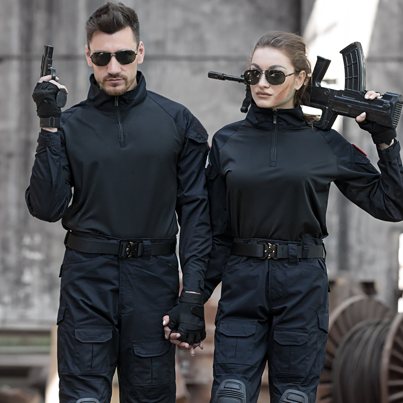 盾郎户外迷彩服套装男特种兵战术蛙人服正品耐磨CS野战装备军装女