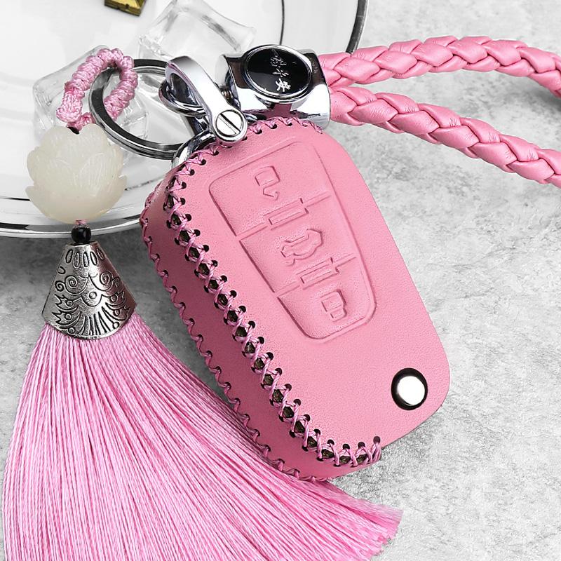 荣威mg5汽车钥匙包女750真皮360锐腾gs锐行mg7遥控钥匙保护套扣女