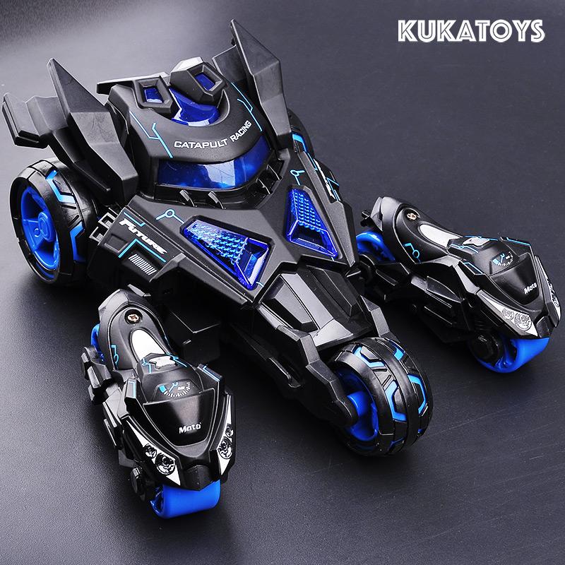 新款合金弹射战车摩托车声光回力三合一汽车模型儿童玩具六一礼物