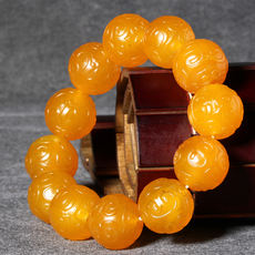 Dialect and Tian Yu special 88 yuan boutique patina agate 20mm bracelet features red beans wish bracelet A