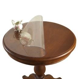 圆桌桌布透明桌垫塑料餐桌布台布pvc防水桌面保护膜可定制水晶垫