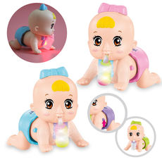 Electric climbing baby learning crawling toys infant educational toys can talk singing crawling doll 0-1-2 years old