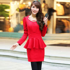 Cool Gaga clearance new temperament Slim long-sleeved solid color long-sleeved dress 1139 without necklace