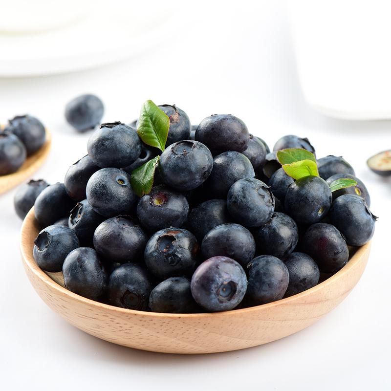 蓝莓大果新鲜水果蓝莓应季包邮125gX4盒共500g