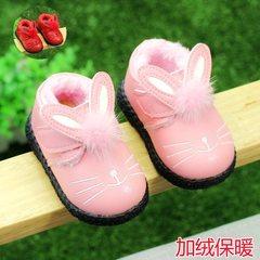 棉鞋女宝宝秋冬软底婴儿学步鞋女童宝宝小公主0-1-2岁3皮鞋鞋子鞋