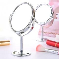 化妆镜台式简约小镜子随身迷你主镜双面镜放大 桌面宿舍梳妆镜