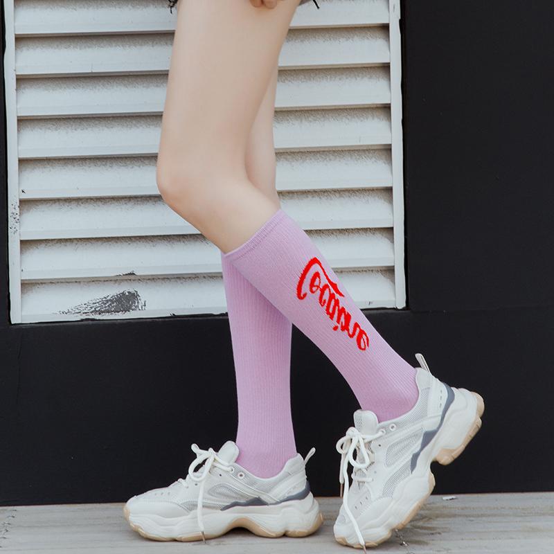 长袜子女中筒袜堆堆袜韩国ins潮流小腿袜网红薄款夏季街头潮袜女
