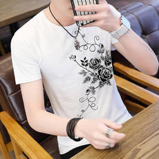 Xia Nan White Short Sleeve T-Shirt Student Korean Slim Fit T-Shirt Teen Thin Breathable Half Sleeve Top