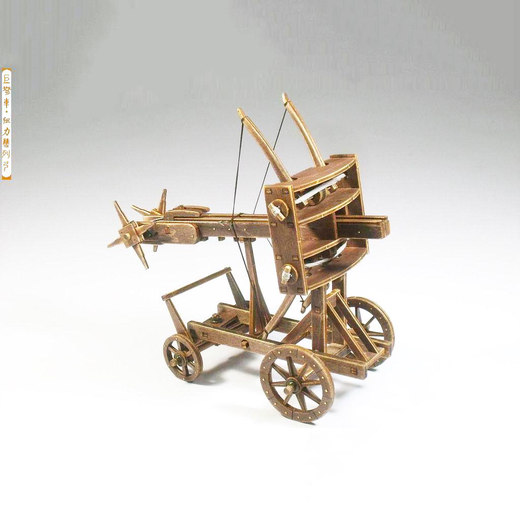 迷你匠 古代攻城器系列gz006 巨弩车【古代战争武器】