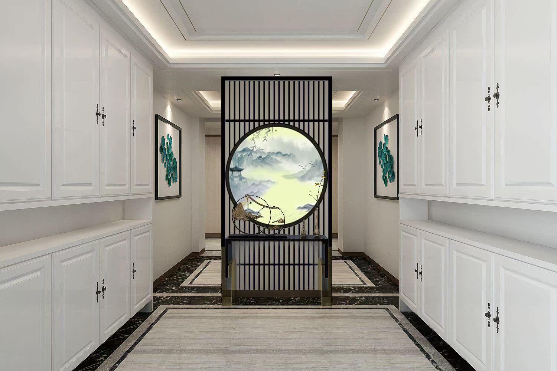 新中式隔断实木屏风现代简约客厅玄关装饰镂空背景墙实木花格格栅