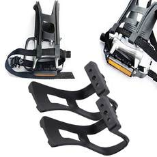 1pair/lot road bike pedals with double toe clips straps plas