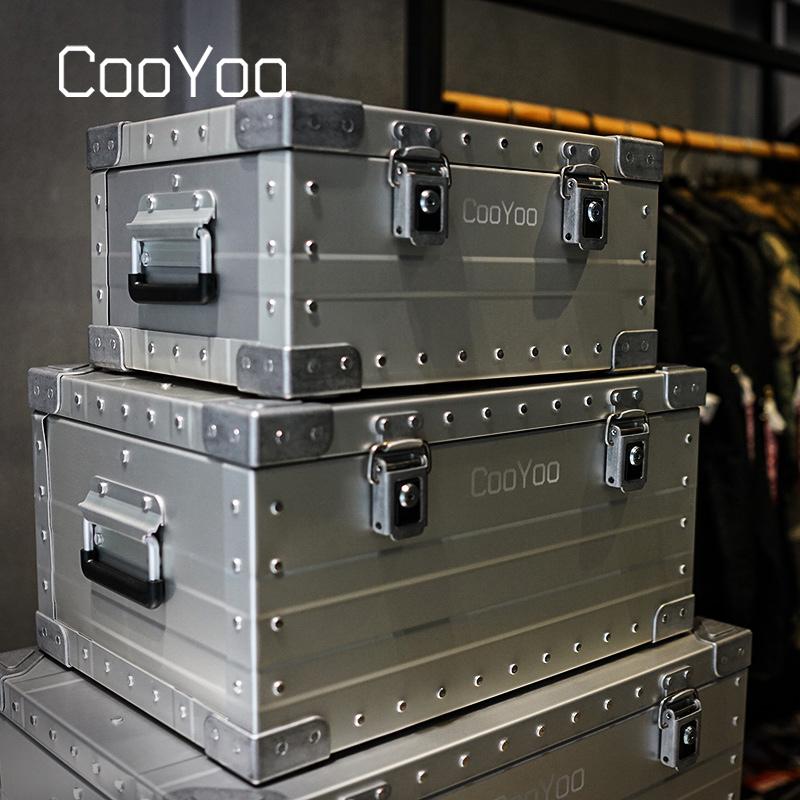 CooYoo酷友 铝镁合金轻型户外储物箱 车载旅行带锁安全装备整理箱