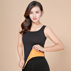 Warm vest women plus velvet thickening tight autumn and winter close-fitting vest body shaping underwear wearing bottoming top chest top