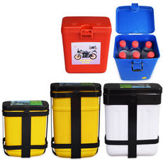 Motorcycle bumper tool box glove box water cup holder tea cup box plastic glove box front guard bar storage box