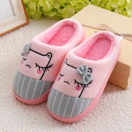 儿童棉拖鞋男孩小孩4-5-6-7-8-9岁室内专用防滑男童棉鞋冬天软底