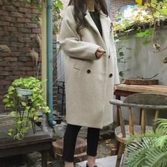 毛呢外套女冬装2018新款韩版宽松显瘦中长款韩国学生妮子大衣