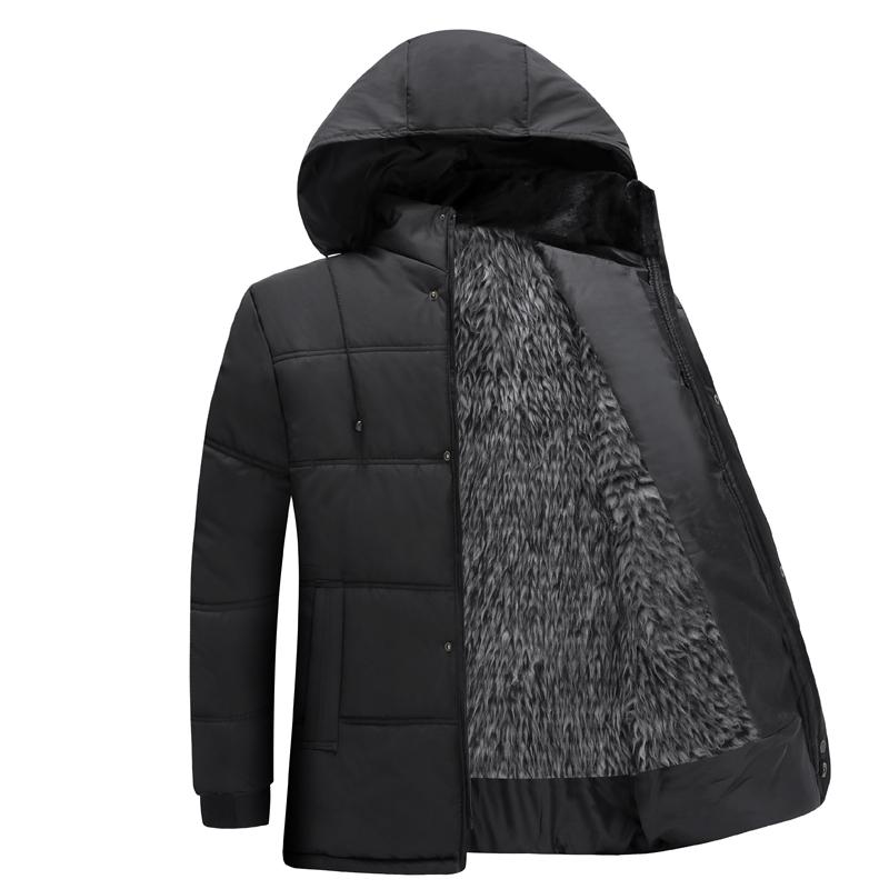 特价清仓男士男装中老年棉衣男冬装外套加厚款毛内胆爸爸保暖棉衣
