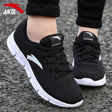 Anta official website sports shoes women's shoes autumn and winter 2019 new brand light black casual travel running shoes women
