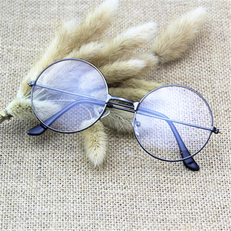 复古眼镜框架女金属框墨镜太子镜原宿风平光眼镜男女通用圆框