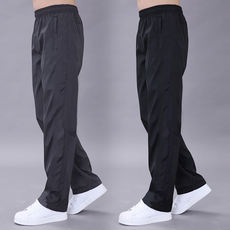 Spring and summer sports pants men's trousers casual pants Slim quick-drying breathable loose pants men's polyester slip waterproof pants