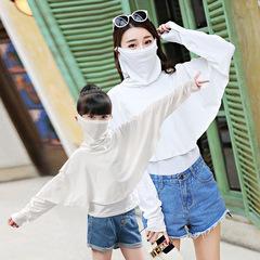 防晒披肩夏季度假外搭亲子装短款冰丝女童小披肩骑车遮脸开车出游