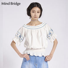 Mind Bridge summer new women's clothing fashion casual collar embroidered women's jacket MRBL422AOW