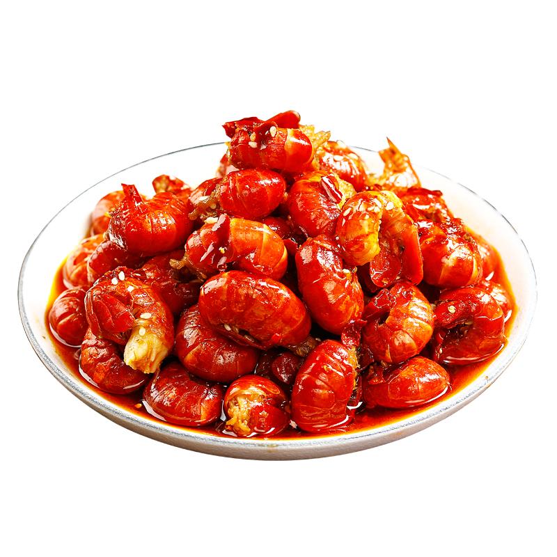 麻爪爪 龙虾尾即食小吃卤肉熟食即食辣虾尾包邮麻辣小龙虾香辣味