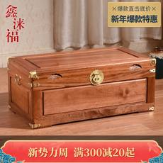 Whole plate single board beech box calligraphy and painting box full incense camphor wood storage box wedding box calligraphy and painting box all solid wood box with lock