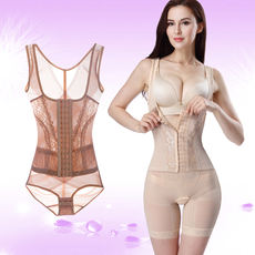 Tingmei 婼 薄 thin section body shaping corset postpartum corset underwear buckle abdomen waist double pressure binding clothing