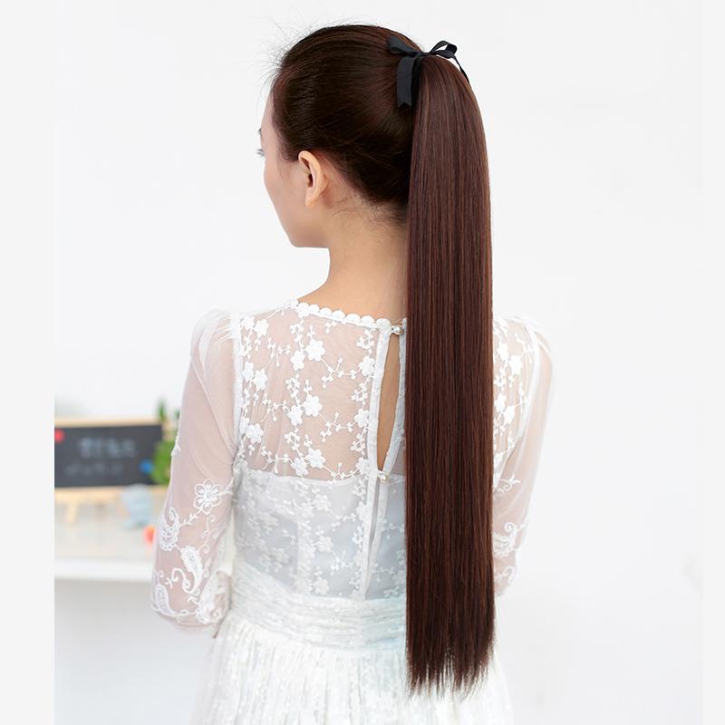假发女马尾长直发绑带式马尾中长短款女士假发尾逼真马尾辫假发片