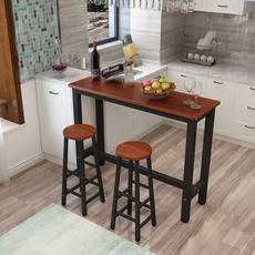 Simple bar table home bar counter wall narrow table high table and chair combination tea shop slender table