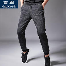 Sports pants men's spring and summer casual pants close feet thin breathable Slim camouflage pants beam feet tide pants ancient stars