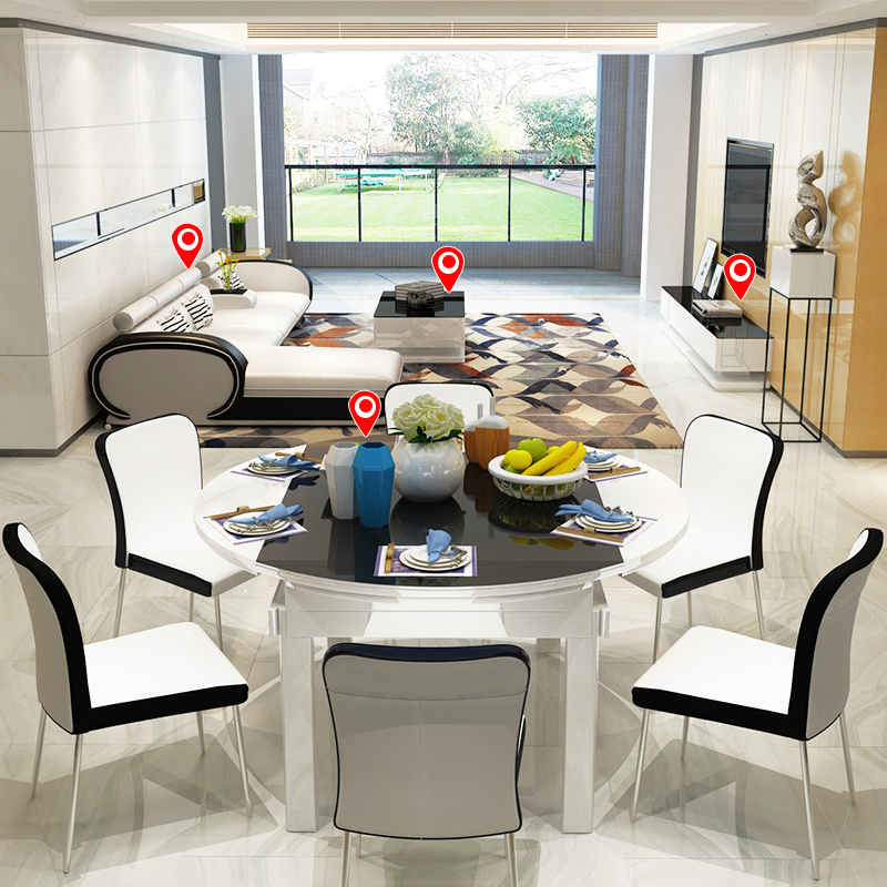 客厅成套家具全套套装简约现代沙发茶几电视柜餐桌椅组合三件套
