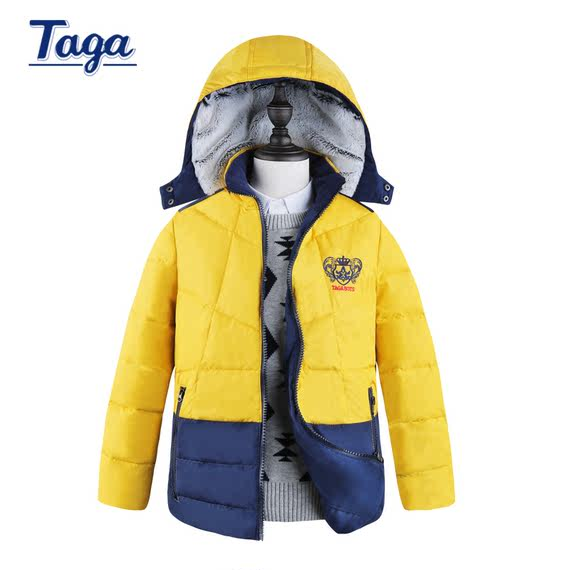TAGA children's clothing 2018 winter new thick warm children's down white duck down casual down jacket coat clothes