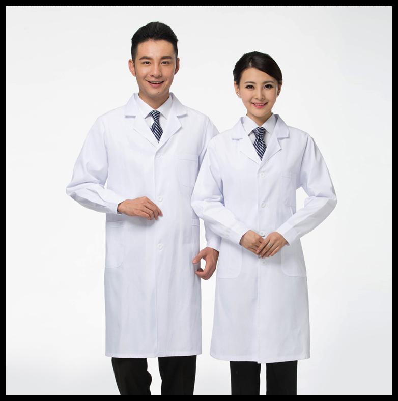 新款白大衣夏季白大褂长袖男女实验医生工作医师服护士服修身包邮满30元减5元