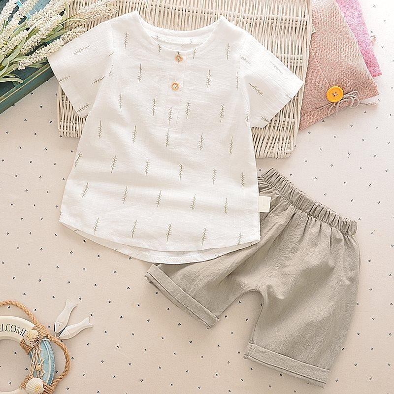 儿童短袖套装1-2-3-4-5岁夏季儿童衣服两件套休闲女宝宝男童夏装