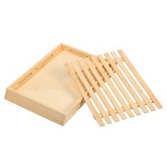 双层垫板茶盘蛋糕卤味西饼房木质展示盘木架平托冷柜寿司料理牛排