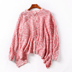 I@12 Autumn new single-breasted cardigan loose thin long-sleeved sweater shirt student wild women's jacket