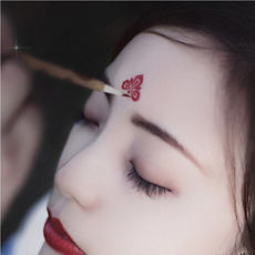 Eyebrow stickers Hanfu costumes flower ancient wind forehead stickers Children's tattoo stickers women waterproof long lasting stickers