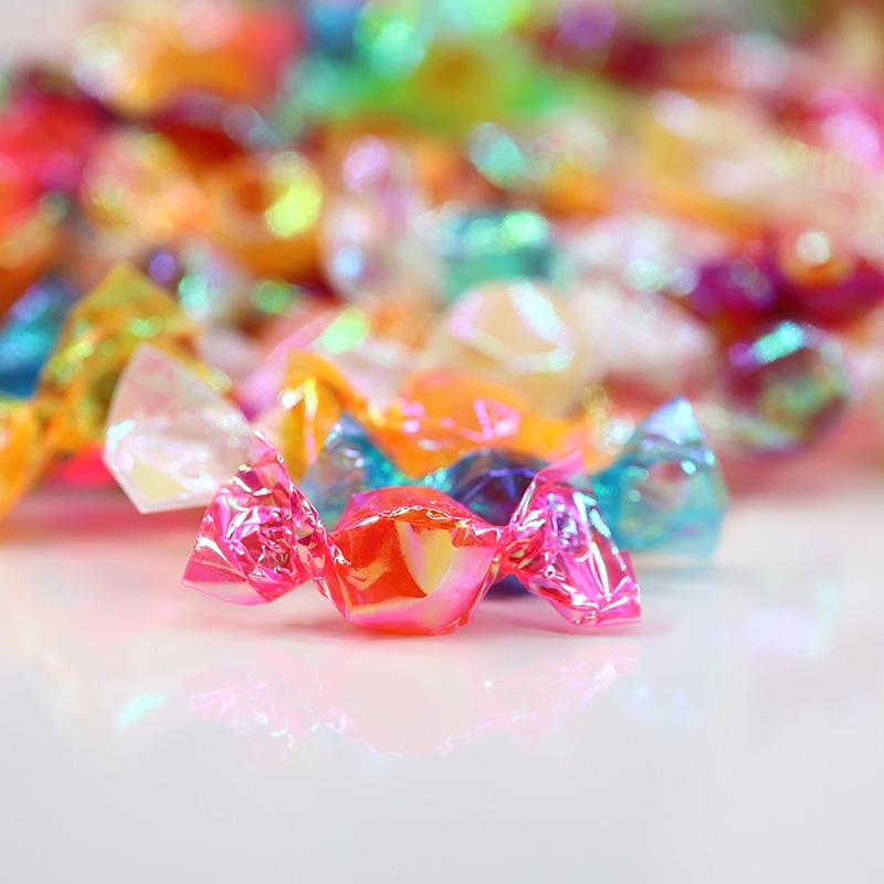 炫彩千纸鹤糖果小零食网红混合口味创意水果味喜糖散装批发硬糖